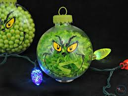 two diy grinch ornaments an easy tutorial