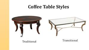 transitional style coffee table types and styles of coffee tables