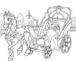 princesa barbie na carruagem sonhos barbie coloring