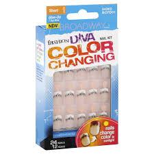 broadway nails fashion diva nail kit color changing short length