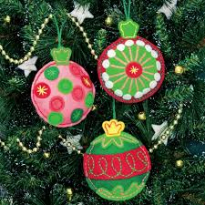 simple cheer felt ornaments kit felt craft kits at