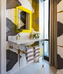 cool bathroom mirrors powder room transitional with wainscoting