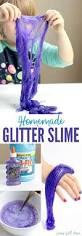 how to make glitter glue slime
