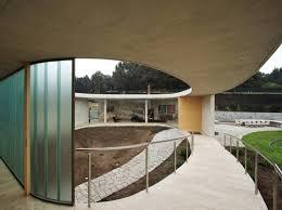 circular concrete home plan