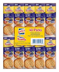 lance pb u0026j toastycrackers 40 ct bj u0027s wholesale club