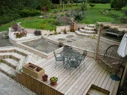 Decking Ideas For Sloping Garden Sloping Gardens Dewin Designs Garden Design Cardiff Penarth
