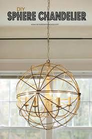 Lighting Dining Room Chandeliers Remodelando La Casa Sphere Chandelier For The Dining Room