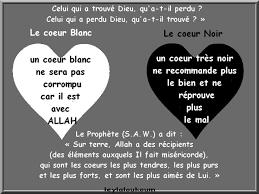 le coeur blanc coeur blanc et le coeur noir