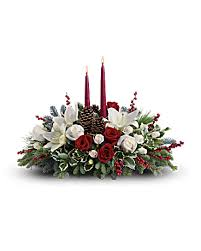 Christmas Centerpiece Images - christmas wishes centerpiece bouquet teleflora