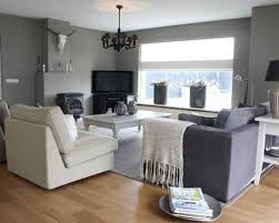 Grey Theme White Wooden Window Added By Grey And White Fabric Sofa Also Grey