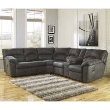 Corner Sectional Sofas by Signature Design By Ashley Tambo Pewter 2 Piece Reclining Corner