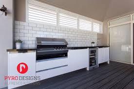alfresco kitchen with eleganz perspex doors a ziegler and brown