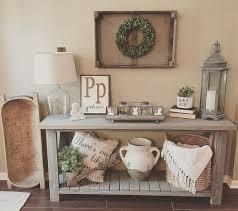entry way table decor console table arrangements
