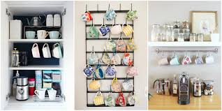 how to organize your coffee cups kitchen coffee mug organization