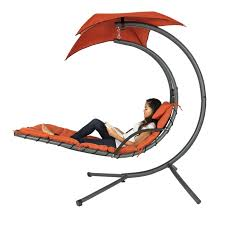 Canvas Outdoor Chairs Arc Curved Hammock Dream Chaise Lounge Chair Outdoor Patio Pool