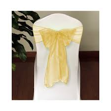 Champagne Chair Sashes Gold Satin Sashes For Chairs Home Chair Decoration
