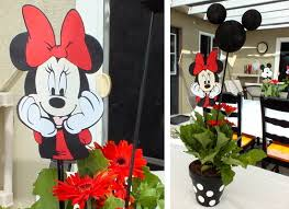 mickey mouse center pieces mickey and minnie centerpieces two