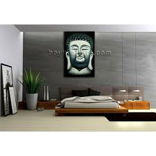 large feng shui painting abstract buddha head stately home decor