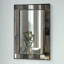 metal framed hexagon mirror antique brass west elm