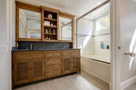 Restoration Hardware Bathroom Cabinet by Traditional Full Bathroom With Inset Cabinets U0026 High Ceiling In