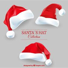 santa claus hats pack vector free