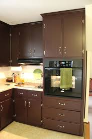 brown painted kitchen cabinets silver hardware looks like our