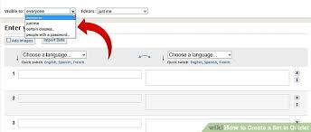 quizlet tutorial video how to create a set in quizlet 6 steps with pictures wikihow