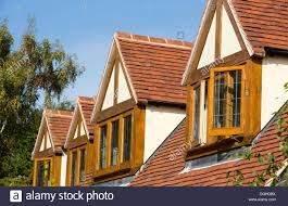 a detached house with dormer windows stock photo royalty free