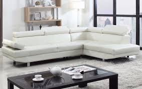 Modern Bonded Leather Sectional Sofa 2 Piece Modern Bonded Leather Right Facing Chaise Sectional Sofa