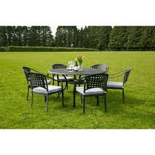 Cast Aluminium Outdoor Furniture by Chelmsford 6 Seater Cast Aluminium Garden Furniture Set