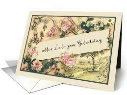 happy birthday in german vintage roses card greeting cards i