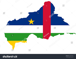 Flag Of The Central African Republic Central African Republic Flag Map Stock Vector 603707189