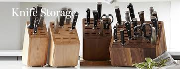 kitchen knives block knife storage williams sonoma