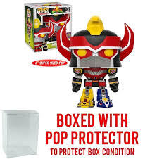 amazon com 2017 sdcc exclusive funko pop tv mighty morphin tv mighty morphin power rangers 497 megazord 6 inch limited edition bundled with pop box protector case toys games