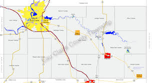 Wisconsin County Maps by Eau Claire County Township Map Large
