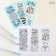 winter bookmarks coloring dawn nicole designs