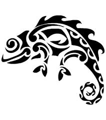splendid tribal chameleon tattoo design tattooimages biz