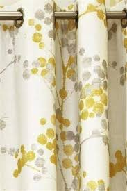 White And Yellow Curtains Yellow Grey And White Curtains The Land Of Nod Curtains