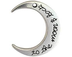 silver crescent moon etsy
