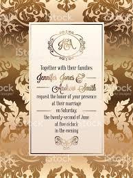 Latest Designs Of Marriage Invitation Cards Vintage Baroque Style Wedding Invitation Card Template Elegant