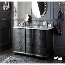 black bathroom washstand with basin unit eugenie maisons du monde