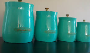 mid century spun aluminum kitchen canisters u2013 set of 4 u2013 retro
