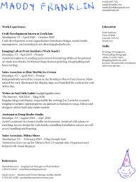 resume deans list resume u2014 maddy franklin