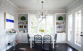 katie kime s colorful house in austin is everything home tour the pattern clad breakfast nook in the kitchen of designer katie kime s austin home