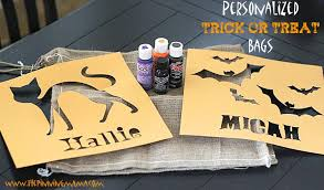 personalized trick or treat bags 5 personalized burlap trick or treat bag the pinning