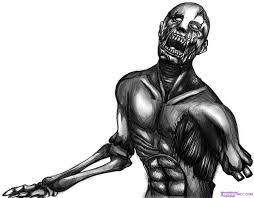 how to draw a zombie face step by step zombies monsters free