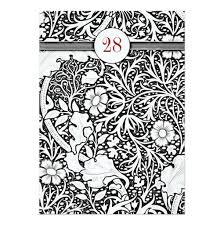 black and white damask birthday invitation card