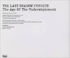 shadow puppets for sale the last shadow puppets the age of the understatement uk promo cd