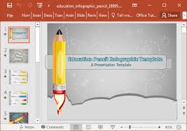 animated education infographic powerpoint template