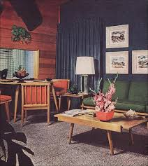 Mid Century Living Room 1960 Living Room 1957 Modern Living Room With Wall Graphic 1950s